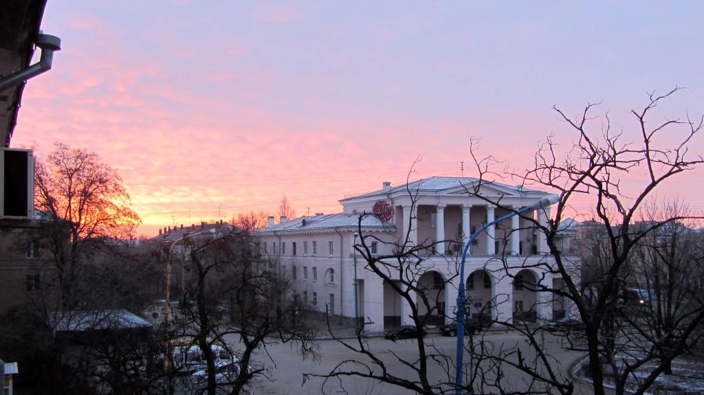 Утро в Волгограде
