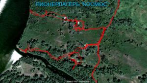 Маршрут передвижения по лагерю Космос (исследование останков)
