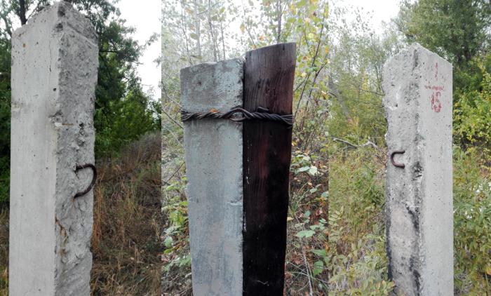 На месте лагеря остались только бетонные столбы