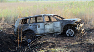 Сожгли Mitsubishi Pajero Sport