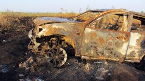 Mitsubishi Pajero Sport (остаки после пожара)