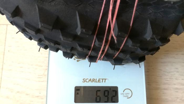 Сколько весит покрышка Continental X-King 26x2.4 кевлар