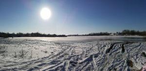 Зимнее солнце над Волгой